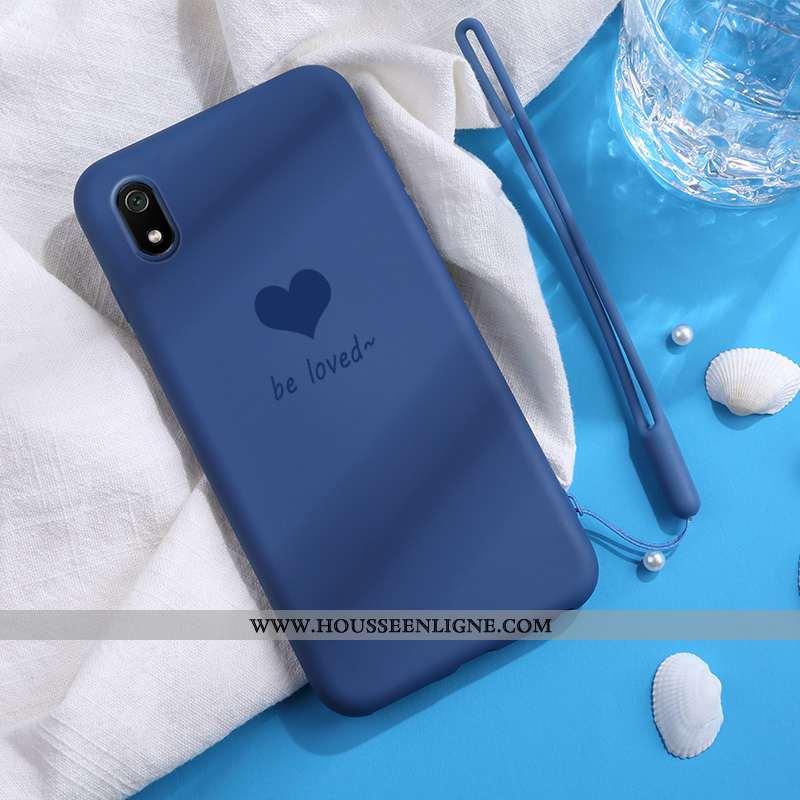 Coque Xiaomi Redmi 7a Fluide Doux En Silicone Petit Amoureux Étui Légère Bleu Marin Bleu Foncé