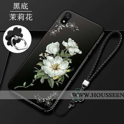 Coque Xiaomi Redmi 7a Fluide Doux Protection Personnalité Tendance Rouge Petit Noir
