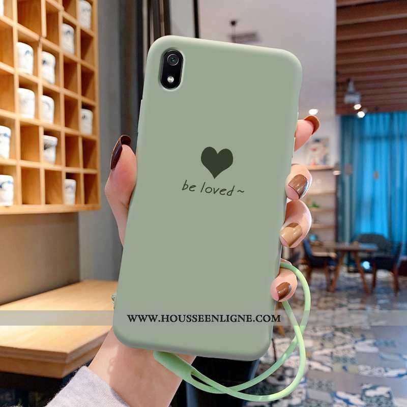 Coque Xiaomi Redmi 7a Fluide Doux Silicone Net Rouge Ultra Amour Rouge Protection Verte