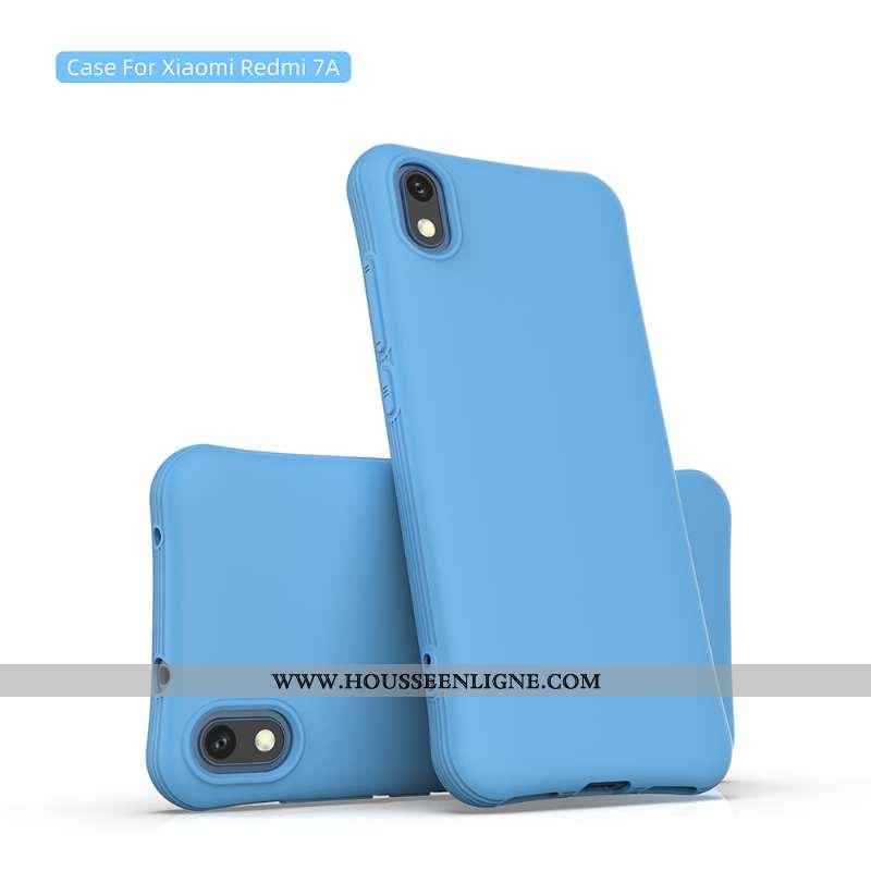 Coque Xiaomi Redmi 7a Personnalité Fluide Doux Jeunesse Téléphone Portable Bleu Rouge Membrane