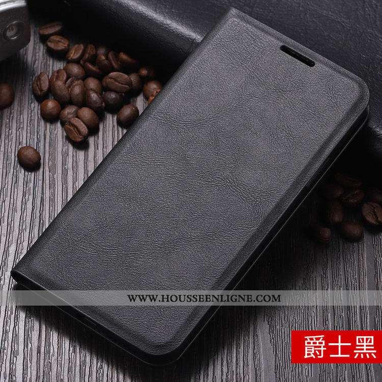 Coque Xiaomi Redmi 7a Protection Cuir Housse Petit Rouge Simple Tout Compris Noir