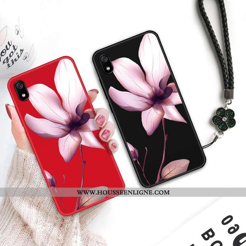 Coque Xiaomi Redmi 7a Protection Délavé En Daim Étui Fluide Doux Vintage Créatif Téléphone Portable