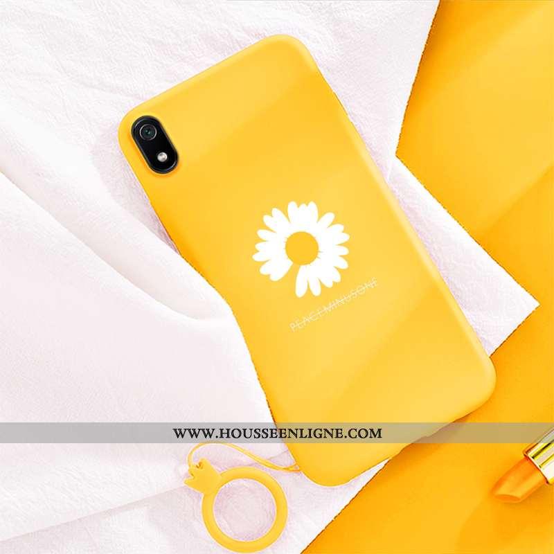 Coque Xiaomi Redmi 7a Tendance Fluide Doux Tout Compris Petite Marguerite Violet Téléphone Portable