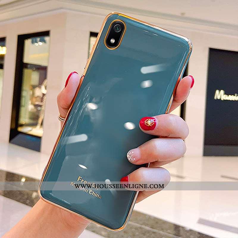 Coque Xiaomi Redmi 7a Ultra Tendance Légère Silicone Simple Rouge Bleu
