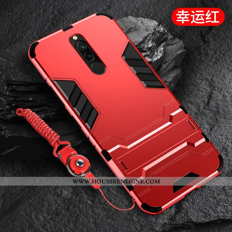Coque Xiaomi Redmi 8 Délavé En Daim Ornements Suspendus Incassable Support Nouveau Net Rouge Télépho