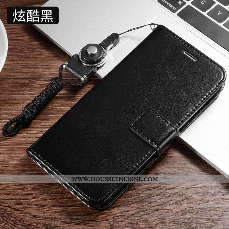 Coque Xiaomi Redmi 8 Silicone Protection Incassable Étui Cuir Tout Compris Noir