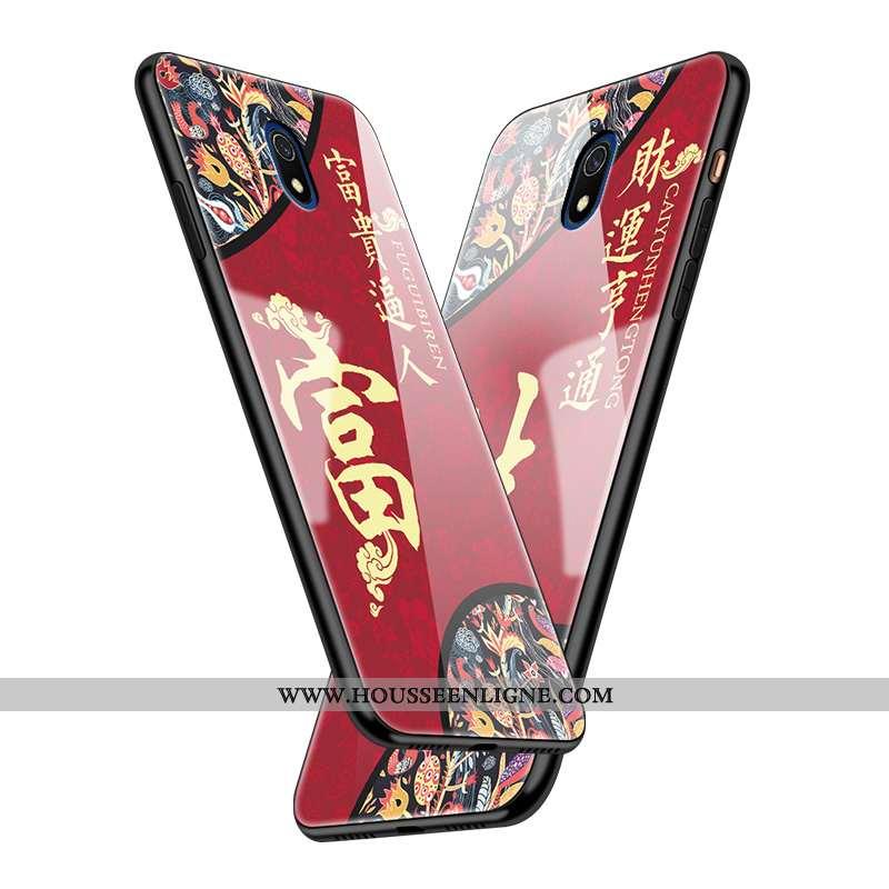 Coque Xiaomi Redmi 8a Créatif Protection Miroir Style Chinois Nouveau Difficile Rouge
