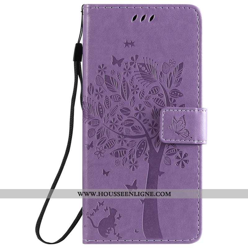 Coque Xiaomi Redmi 8a Cuir Violet Étui Téléphone Portable Tout Compris Housse