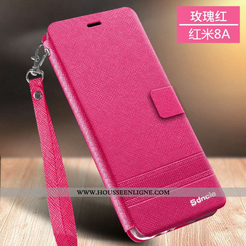 Coque Xiaomi Redmi 8a Silicone Protection Téléphone Portable Business Or Tout Compris Incassable Ros