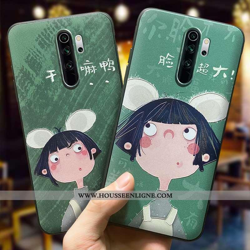 Coque Xiaomi Redmi 9 Personnalité Créatif Petit Tout Compris Protection Dessin Animé Verte