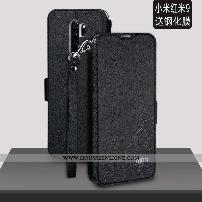 Coque Xiaomi Redmi 9 Silicone Protection Étui Petit Rouge Légère Personnalité Noir