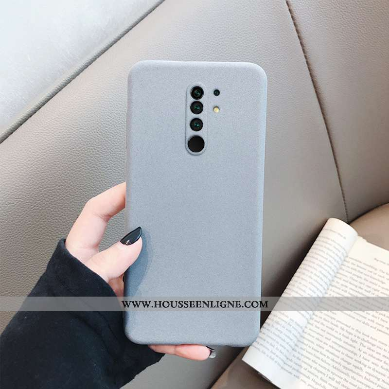 Coque Xiaomi Redmi 9 Tendance Fluide Doux Téléphone Portable Petit Rouge Tout Compris Gris