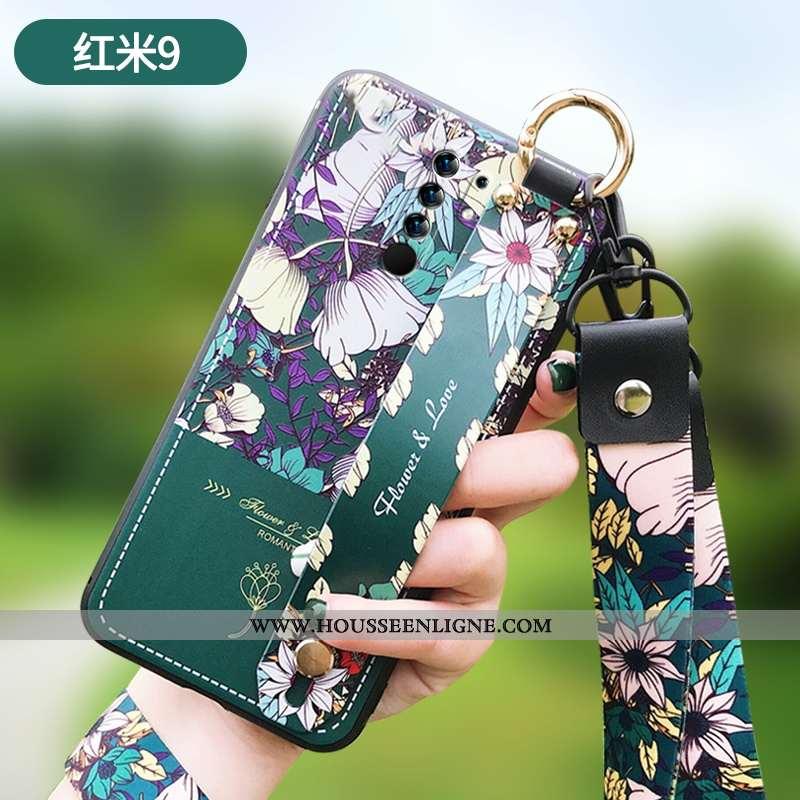 Coque Xiaomi Redmi 9 Ultra Tendance Téléphone Portable Légère Tout Compris Créatif Verte