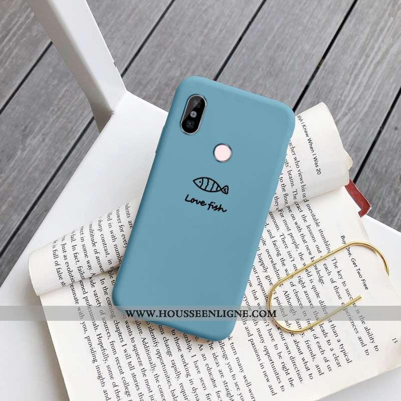 Coque Xiaomi Redmi Note 5 Charmant Tendance Haute Incassable Chiens Bleu Petit