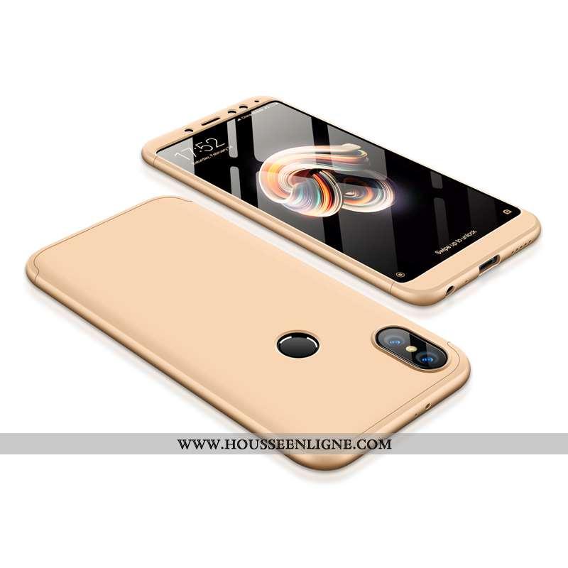 Coque Xiaomi Redmi Note 5 Délavé En Daim Incassable Nouveau Or Téléphone Portable Difficile Rouge Do