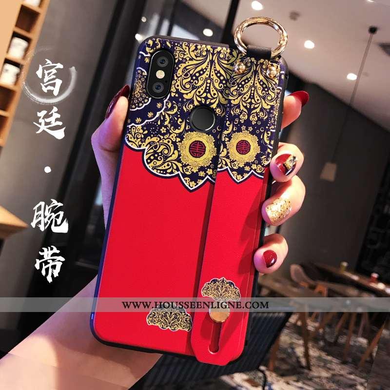 Coque Xiaomi Redmi Note 5 Légère Fluide Doux Protection Style Chinois Rouge Téléphone Portable