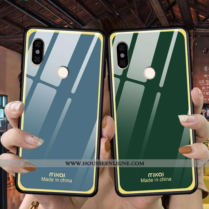 Coque Xiaomi Redmi Note 5 Tendance Légère Simple Silicone Amoureux Téléphone Portable Difficile Vert