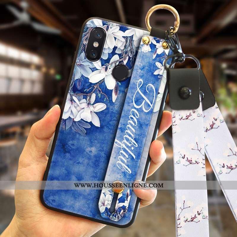 Coque Xiaomi Redmi Note 6 Pro Créatif Tendance Bleu Téléphone Portable Rouge Mode