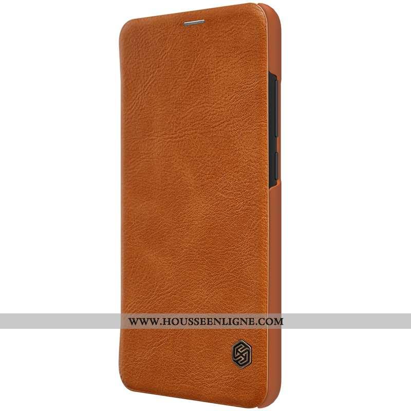 Coque Xiaomi Redmi Note 6 Pro Protection Cuir Business Or Étui Rouge Petit Marron