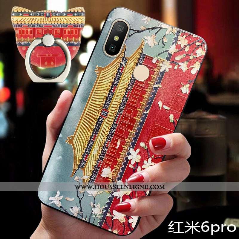 Coque Xiaomi Redmi Note 6 Pro Silicone Protection Nouveau Personnalité Tendance Téléphone Portable É