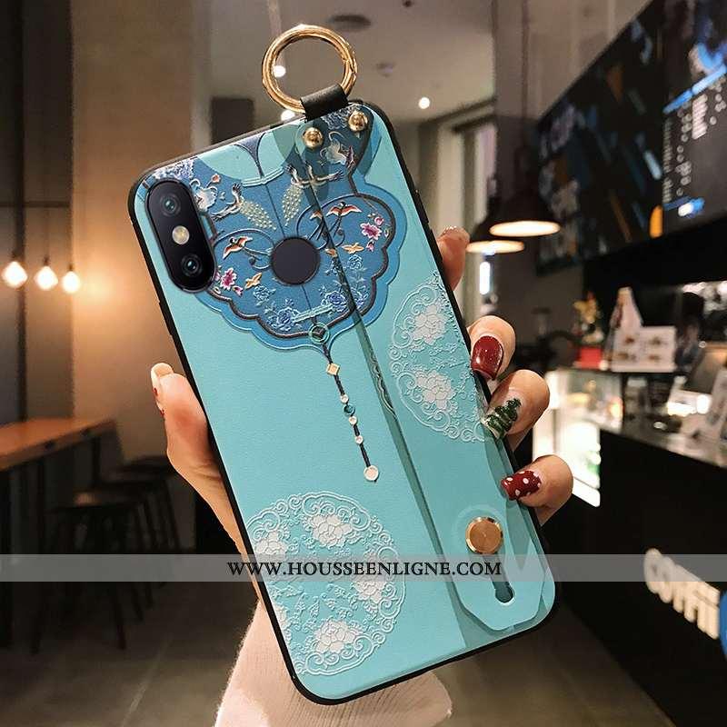 Coque Xiaomi Redmi Note 6 Pro Silicone Protection Rouge Petit Téléphone Portable Bleu Tout Compris