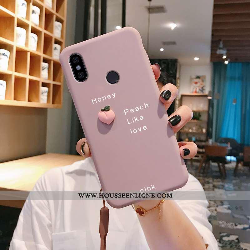Coque Xiaomi Redmi Note 6 Pro Ultra Tendance Petit Rouge Net Rouge Bovins Rose