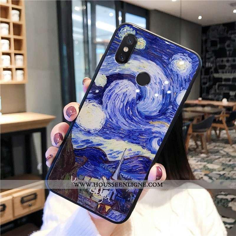 Coque Xiaomi Redmi Note 6 Pro Verre Personnalité Ciel Étoilé Protection Petit Europe Bleu