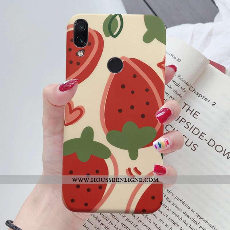 Coque Xiaomi Redmi Note 7 Protection Créatif Rouge Téléphone Portable Jeunesse Net Rouge Fraise