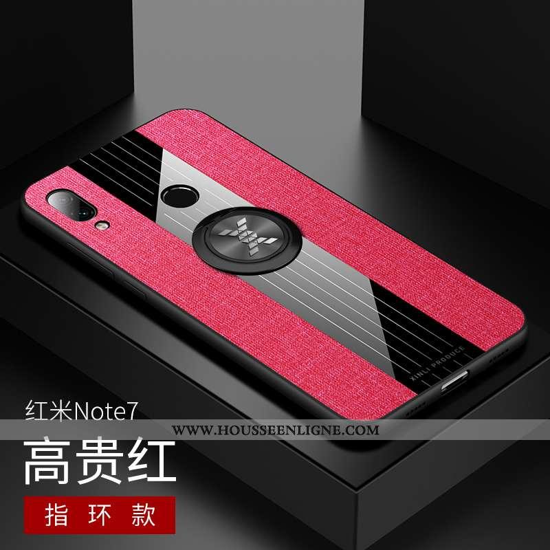 Coque Xiaomi Redmi Note 7 Protection Délavé En Daim Rouge Créatif Téléphone Portable Personnalité Ne