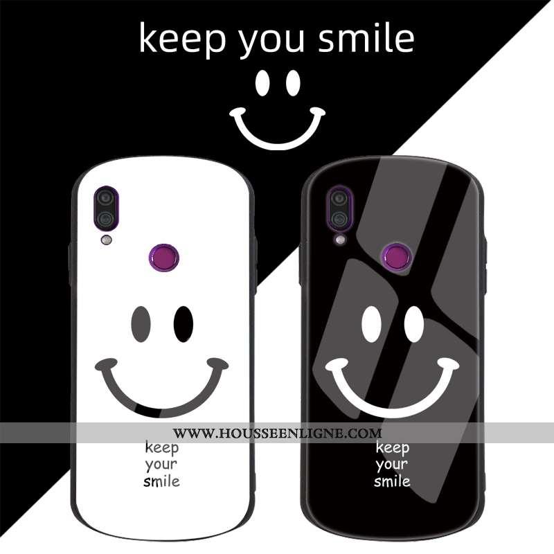 Coque Xiaomi Redmi Note 7 Tendance Fluide Doux Protection Étui Incassable Net Rouge Petit Noir