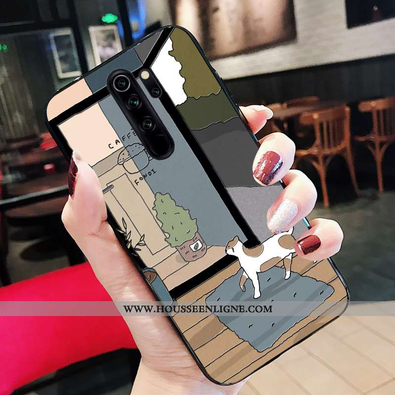 Coque Xiaomi Redmi Note 8 Pro Fluide Doux Silicone Étui Noir Tout Compris Support Dessin Animé