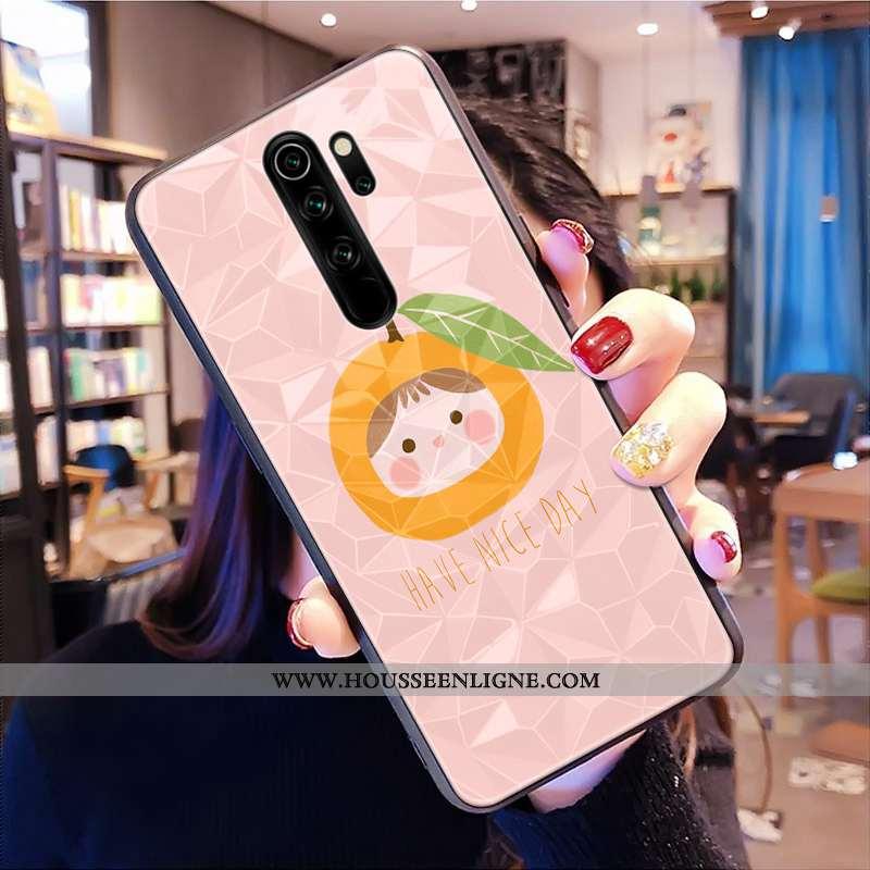 Coque Xiaomi Redmi Note 8 Pro Modèle Fleurie Rouge Téléphone Portable Losange Frais Petit Rose
