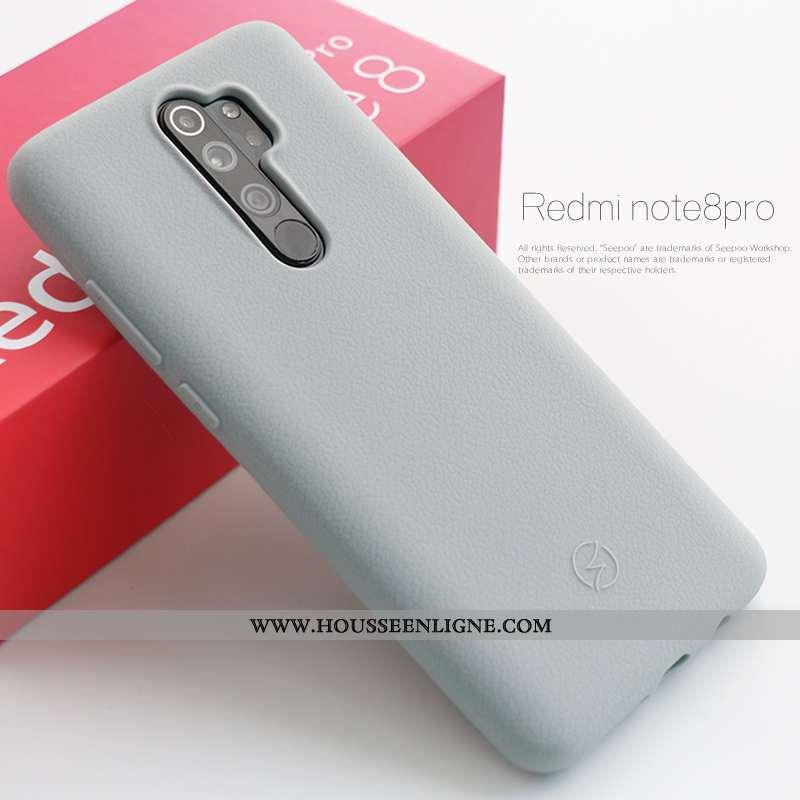 Coque Xiaomi Redmi Note 8 Pro Silicone Épaissir Rouge Téléphone Portable Étui Tout Compris Antidérap