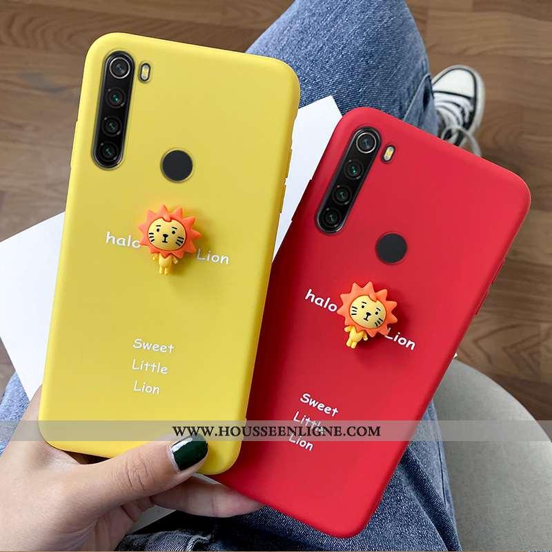 Coque Xiaomi Redmi Note 8t Fluide Doux Silicone Net Rouge Haute Tout Compris Jaune Dessin Animé