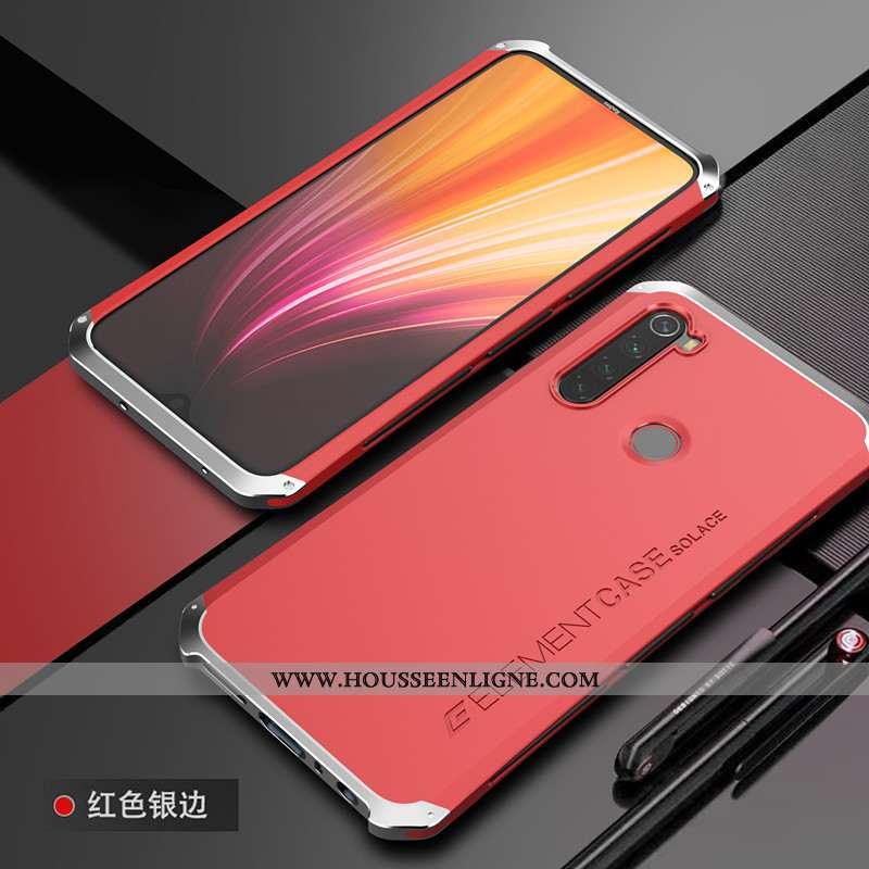 Coque Xiaomi Redmi Note 8t Métal Délavé En Daim Tendance Tout Compris Protection Personnalité Border