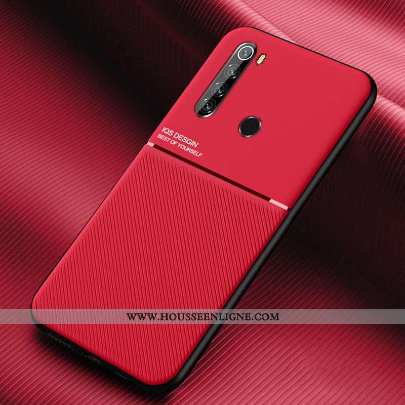 Coque Xiaomi Redmi Note 8t Modèle Fleurie Silicone Rouge Net Rouge Tout Compris Simple
