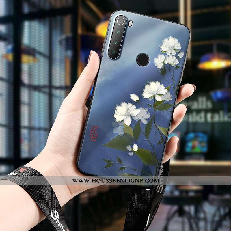Coque Xiaomi Redmi Note 8t Personnalité Créatif Étui Protection Téléphone Portable Gaufrage Rouge Bl