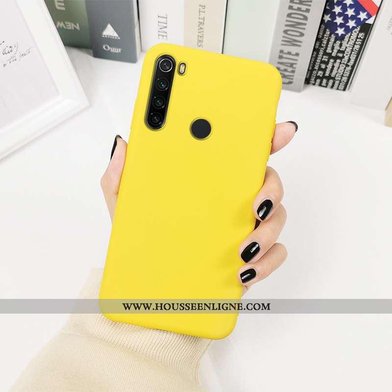 Coque Xiaomi Redmi Note 8t Protection Personnalité Couleurs De Bonbon Téléphone Portable Couleur Uni