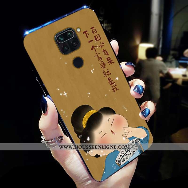 Coque Xiaomi Redmi Note 9 Fluide Doux Silicone Légère Frais Jaune Simple Délavé En Daim