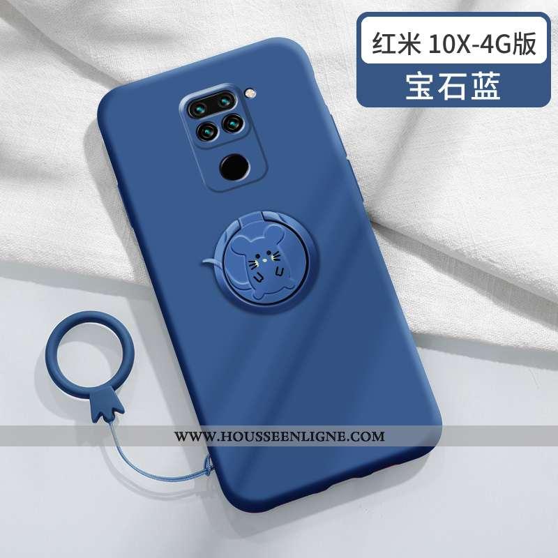 Coque Xiaomi Redmi Note 9 Fluide Doux Silicone Personnalité Nouveau Légère Créatif Protection Bleu