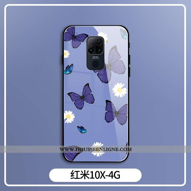 Coque Xiaomi Redmi Note 9 Personnalité Créatif Papillon Petit Téléphone Portable Violet Net Rouge