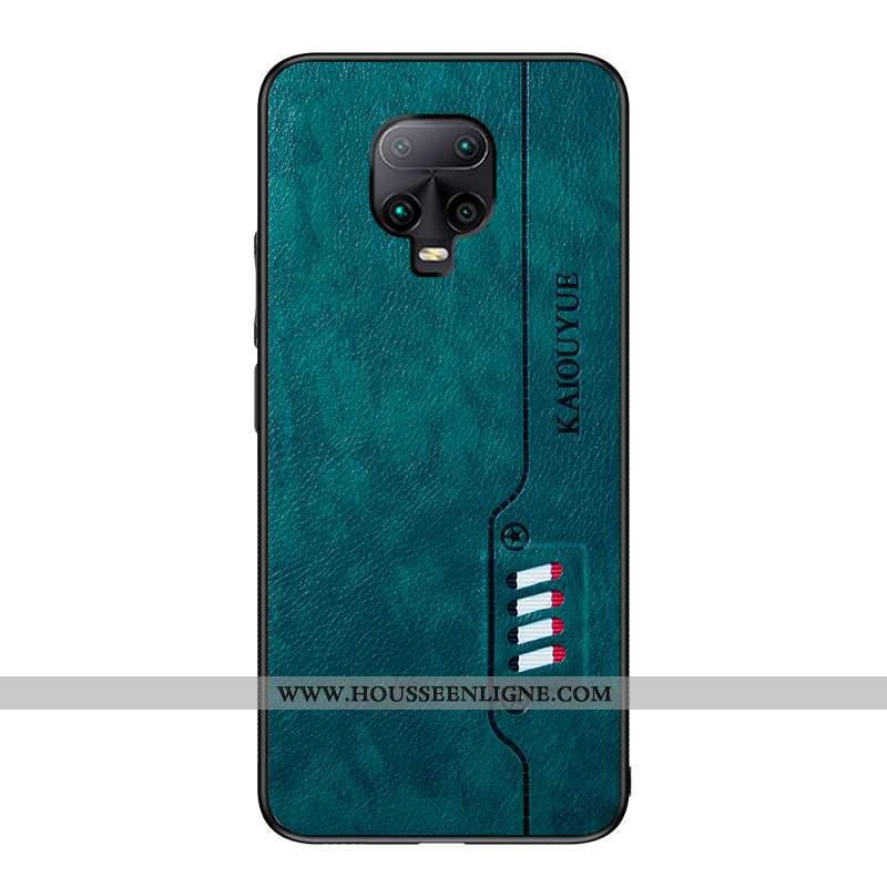 Coque Xiaomi Redmi Note 9 Pro Fluide Doux Cuir Membrane Tout Compris Téléphone Portable Vert Verte