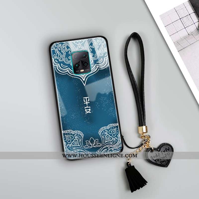 Coque Xiaomi Redmi Note 9 Pro Vintage Tendance Totem Bleu Nouveau Miroir Créatif
