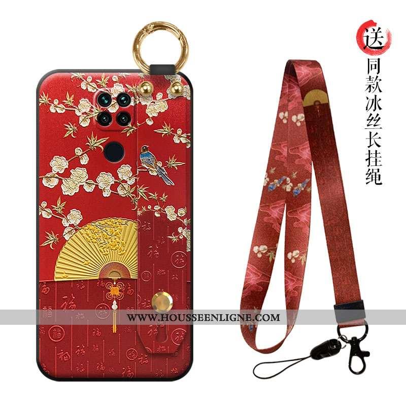 Coque Xiaomi Redmi Note 9 Tendance Légère Ornements Suspendus Ultra Rouge Téléphone Portable