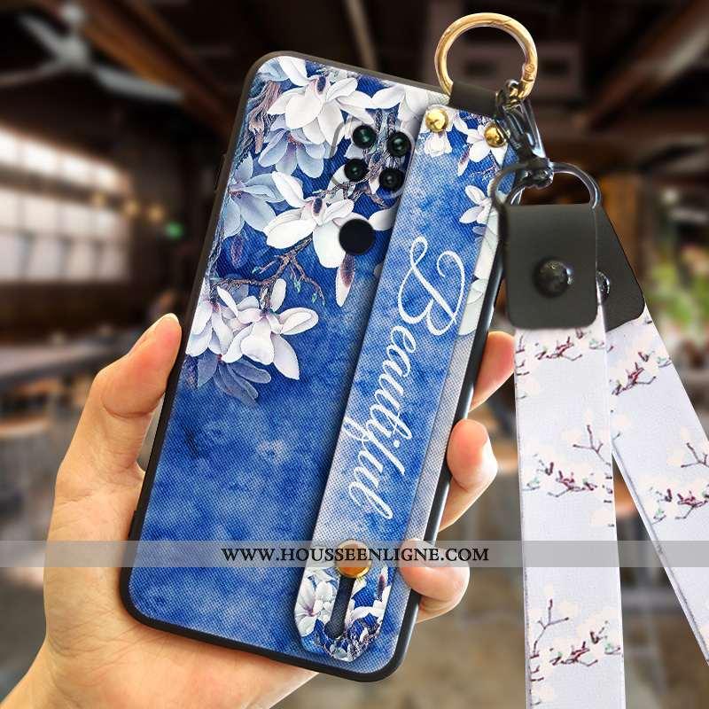 Coque Xiaomi Redmi Note 9 Tendance Personnalité Net Rouge Incassable Téléphone Portable Bleu