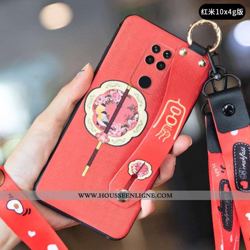 Coque Xiaomi Redmi Note 9 Vintage Ultra Petit Protection Téléphone Portable Créatif Incassable Rouge