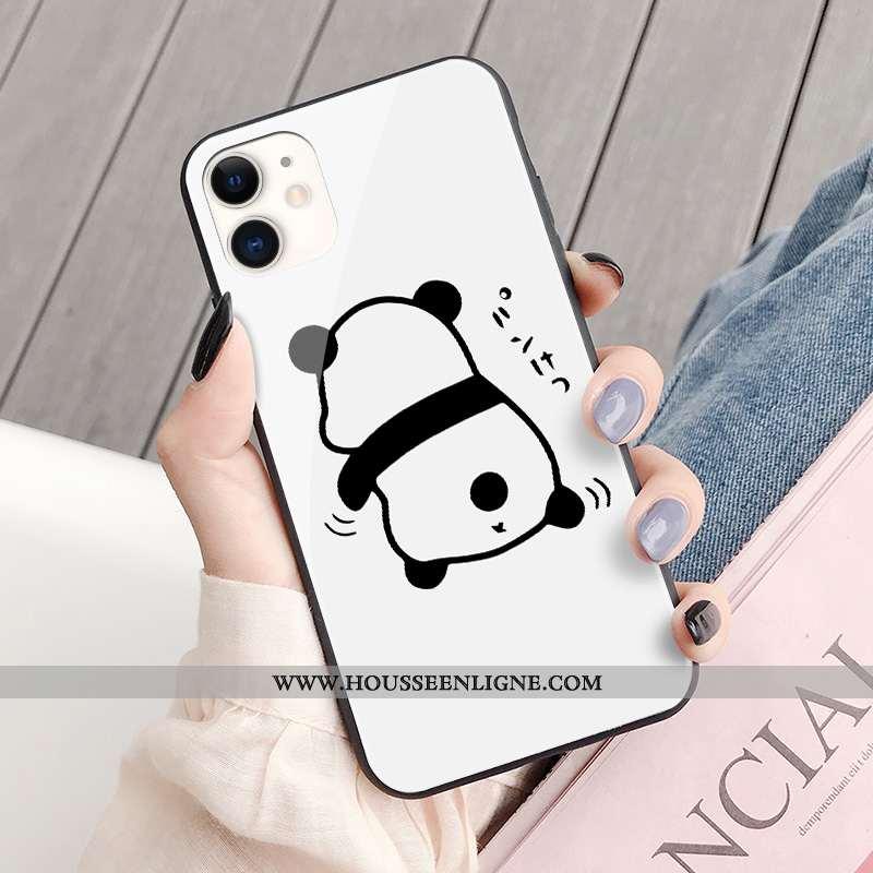 Coque iPhone 11 Charmant Tendance Chat Étui Mode Tout Compris Ours Blanche