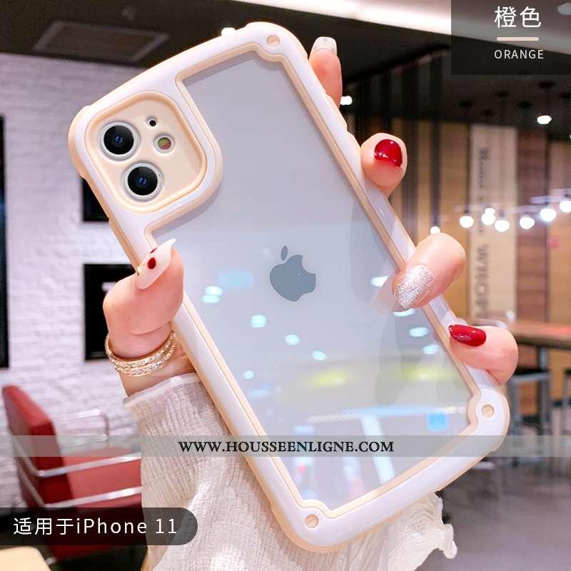 Coque iPhone 11 Charmant Ultra Fluide Doux Rose Silicone Mignonne Vent