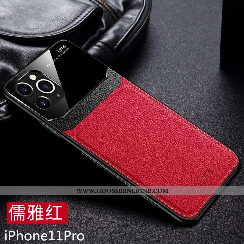 Coque iPhone 11 Pro Fluide Doux Mode Tendance Qualité Rouge Étui Noir