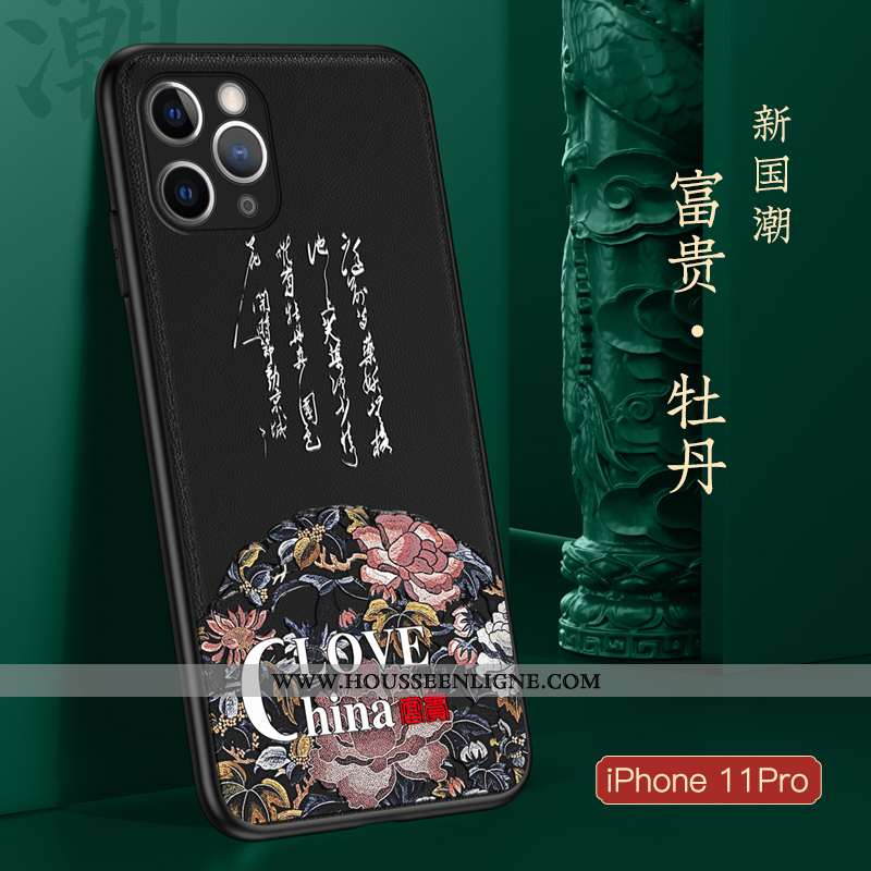 Coque iPhone 11 Pro Légère Fluide Doux Noir Ultra Protection Téléphone Portable Incassable
